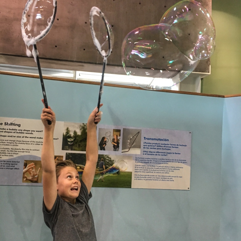 Science museum bubbles